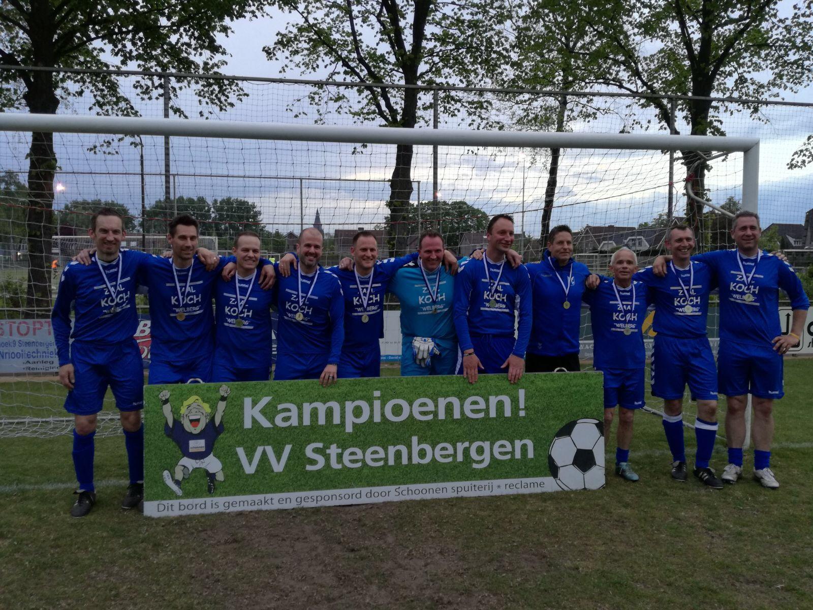 """Seizoen 2016/2017: V.V. """"Steenbergen"""" donderdag1/veteranen1 (kampioen 1e klasse C)"""